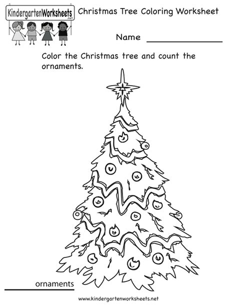 christmas tree counting worksheets counting