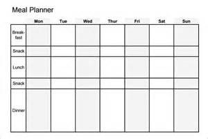 Free Weekly Meal Planner Template PDF