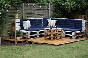 Terrasse Aus Europaletten : 50 coole modelle sofa aus europaletten ~ Orissabook.com Haus und Dekorationen
