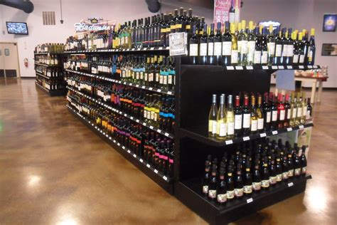 Handy Store Fixtures Black Liquor Store Shelving Liquor