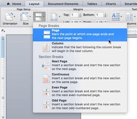 Adicionar Ou Excluir Uma Página No Word Para Mac  Word For Mac