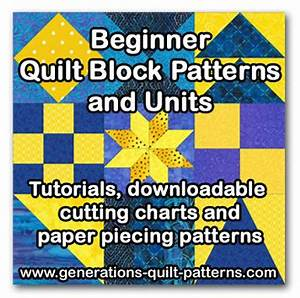 Beginner Quilt Block Patterns and Units - Piece for Success