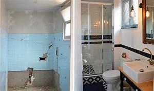 Salle De Bain Avant Après : avant apr s salle de bains au look r tro am nager une petite salle de bains ~ Preciouscoupons.com Idées de Décoration