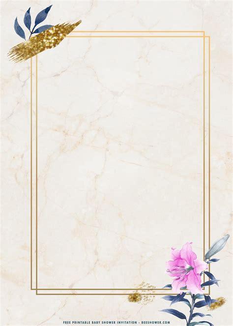 (FREE Printable) Golden Rectangle Floral Birthday