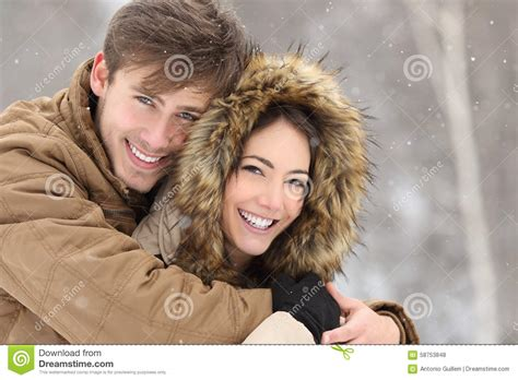 Couple Laughing With A Perfect Smile And White Teeth Stock