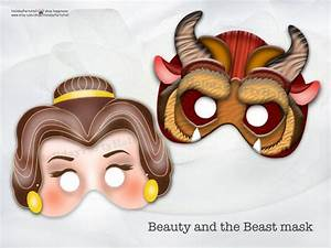 Beauty and the Beast Mask-INSTANT DL,Beauty,Beast,party ...