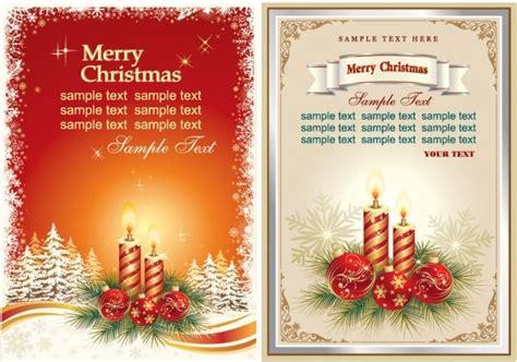 beautiful christmas cards vector  vector