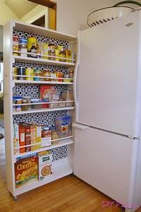 Diy rolling pantry tutorial diy home improvement for Diy rolling pantry shelves