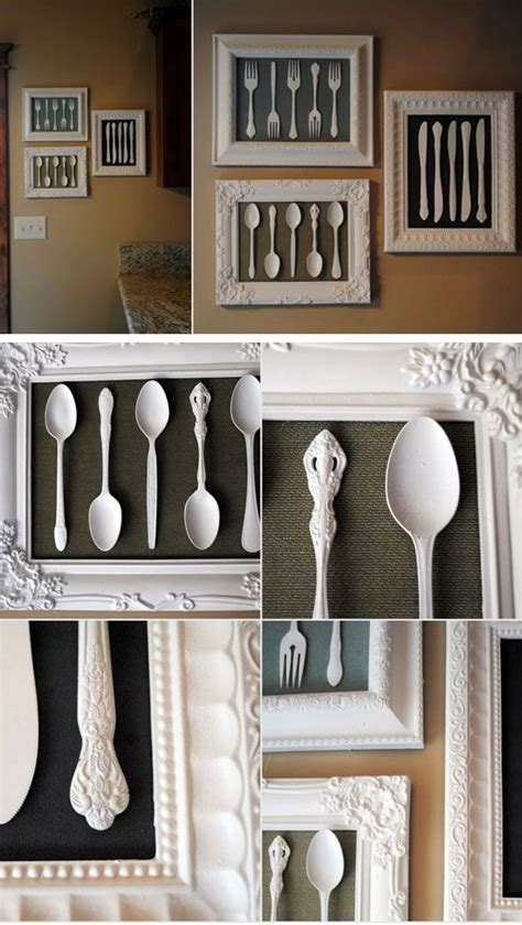 wall art   recycled cutlery diy home decorating