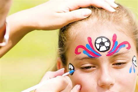 Easy Soccer Face Painting Ideas