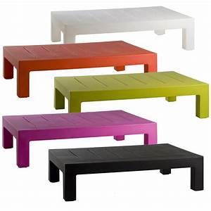 Table Basse Longue : table basse design d ext rieur jut par vondom ~ Teatrodelosmanantiales.com Idées de Décoration