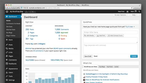 Wordpress.com Revamps Its Dashboard