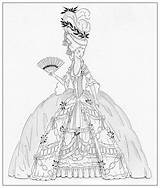 Marie Antoinette Coloring Colouring Century 18th Deviantart Drawing Pages Dress Adult Dolls Paper Sketch Bnspyrd Costume Sheets Books Ships Printable sketch template