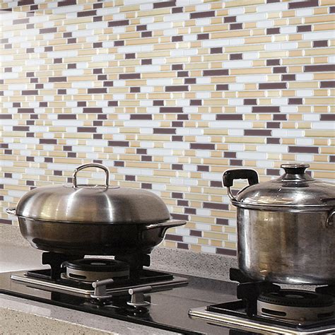 backsplash tile for kitchen peel and stick peel and stick wall tile kitchen backsplashes 12 quot x12 quot set