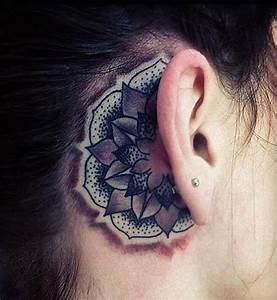 55 Ear Tattoos Designs and Ideas For Women - Dzine Mag