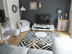 Apres un salon scandinave for Deco cuisine avec chaise de salon noir