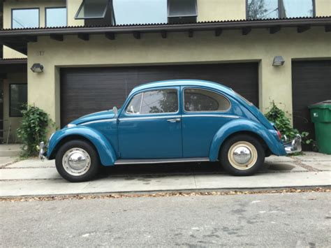 one of a restored vw beetle original factory paint