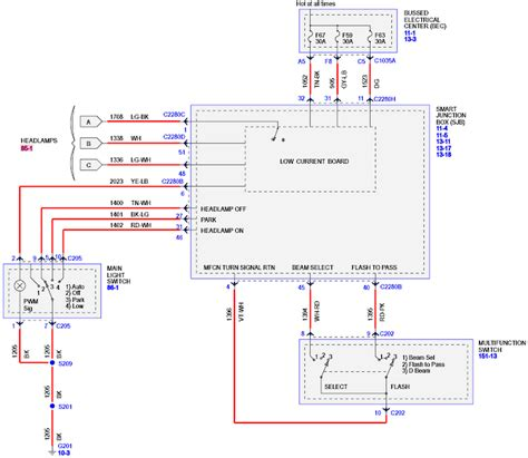 Headlight Wiring Diagram Car Parts Pictures