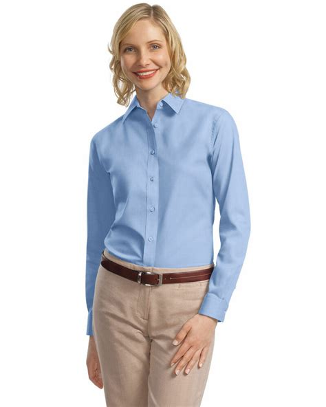 Port Authority Womens Professional Open Collar Long