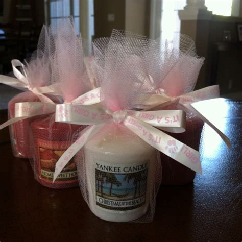 yankee candle party favors baby shower ideas candle