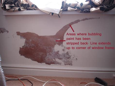 Bubbling paint due to reoccurring damp problem, what cause