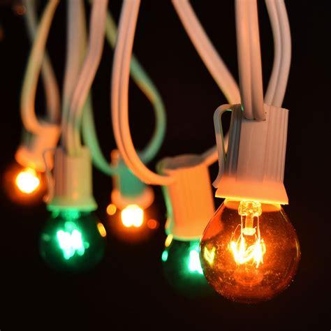 globe string lights green globe string lights 50 white c9 light strand