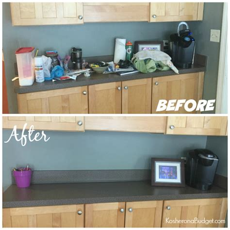 unclutter your life clearing the kitchen counter of 31 days of decluttering day nine a kitchen counter less