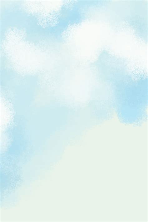 Hand Painted Simple Blue Sky Sky White Clouds Cloud