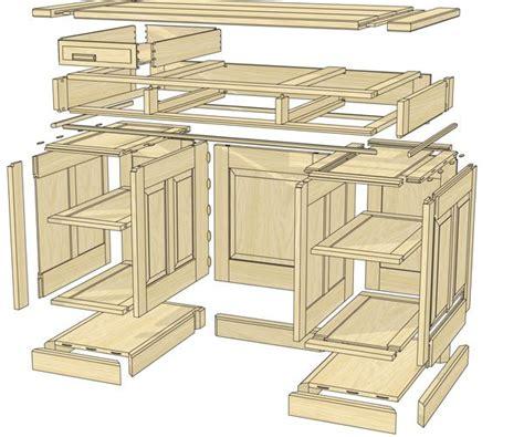 pedestal desk plans woodworking projects plans