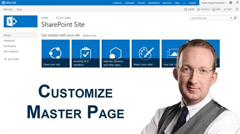 customize  sharepoint  master page youtube