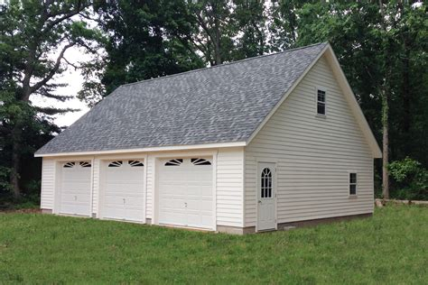 car garage for detached three car garages from the amish sheds