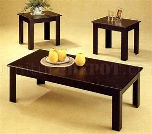 black oak finish modern 3pc coffee table set w parquet details With dark oak coffee table sets