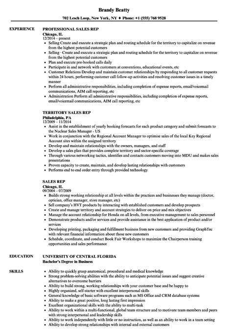 Sales Representative Resume by Outside Sales Rep Resumes Madrat Co