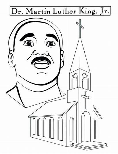 Coloring Luther Martin King Jr Pages Printable
