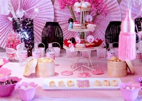 kokeshi table asian theme birthdays and tables