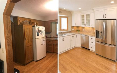 flooring before or after cabinets updating oak cabinets doors floors trim living with