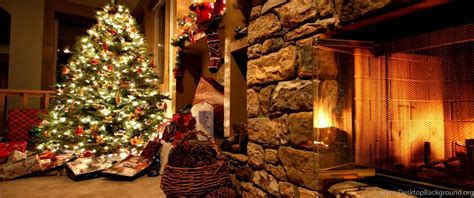 Download Wallpapers 3840x2400 Christmas Tree, Ornaments, Fireplace ... Desktop Background
