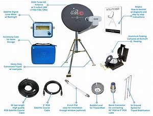 Dish Network Hdtv Portable Satellite Tripod Kit For Rv