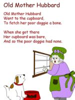 mother hubbard coloring pages