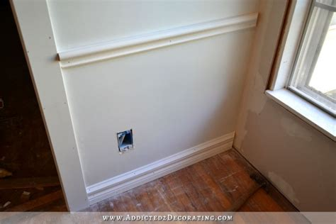 Best Adhesive For Wainscoting by How To Install Picture Frame Moulding The Easiest
