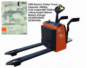 China 2 Ton Electric Pallet Truck With Sgs Certification