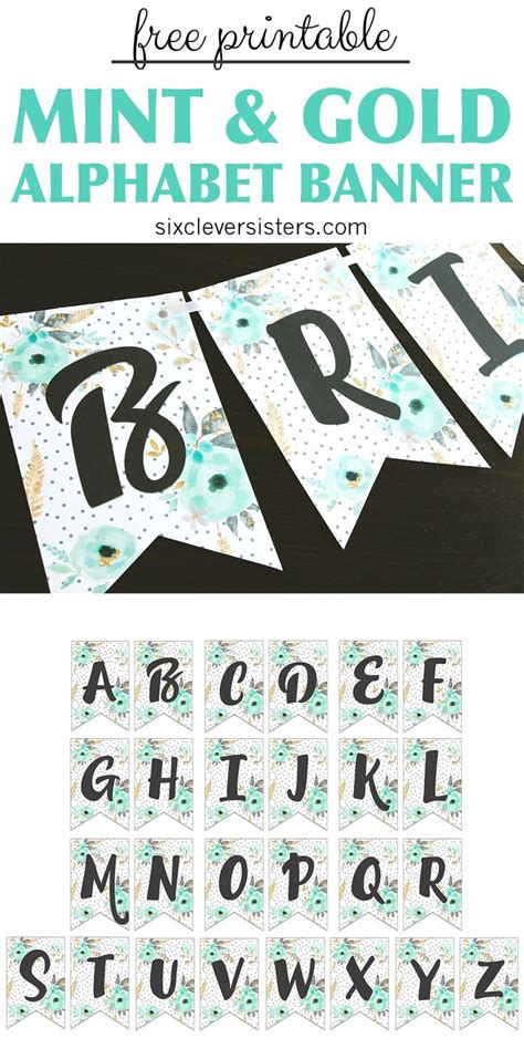 printable banner ideas  pinterest