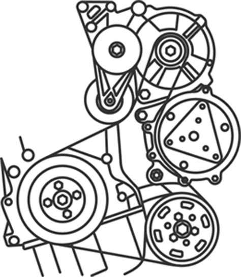 Vw Passat Alternator Diagram by Diagram Or Configuration To Install Serpentine Belt N 1999