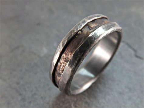 Cool Mens Ring Bronze Unique Wedding Band Bronze By Crazyassjd