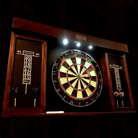 barrington 40 inch dartboard cabinet w led light md sports your best choice in