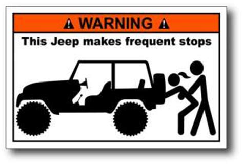 funny sticker  meme figure jeep family cares truck