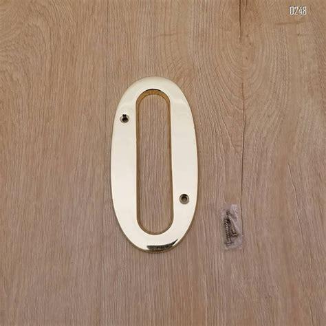 copper plaque  outdoor address plate  household door brass number   mm grand