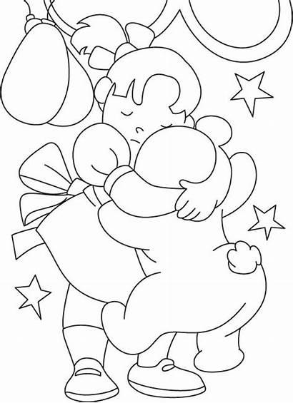 Coloring Hug Bear Friendship Teddy Hugs Pages