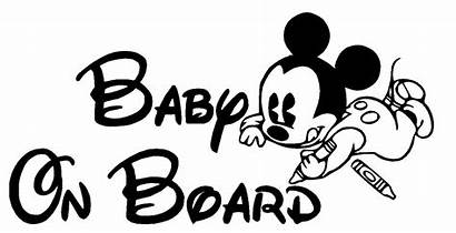 Mickey Mouse Board Decal Coloring Disney Vinyl
