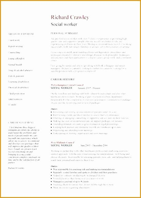 Work Cv Template by 9 Social Worker Resume Template Free Sles Exles